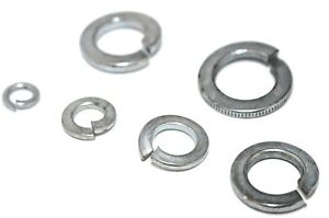 """Spring Washers Imperial Sizes 3/16 1/4 3/4 5/16 3/8 5/8 7/16 1/2 """" BZP DIN 127B"""