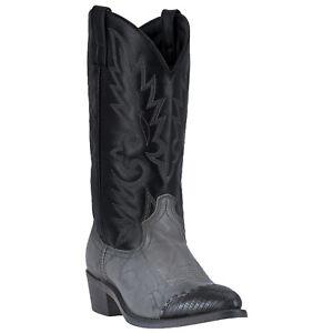 Laredo Mens Flagstaff Liz Print Western Cowboy Boots Leather Snip Toe Gray/Black