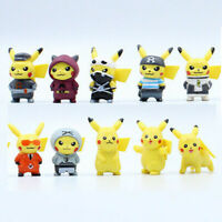 "10 Pcs 1.5"" Pikachu Pokemon GO Action Figures Set Cake Toppers Party Toys Gift"