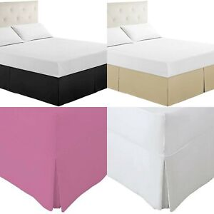 Pleated Base Valance Sheet 100% Poly cotton Bed Sheets Single Double King Sizes