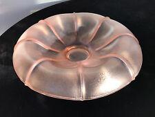 "10.5"" Vintage Carnival Glass Fleshy Pink Jellyfish Form Bowl, Mink Fur Texture"