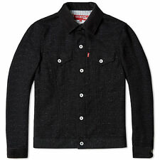 NEW COMME DES GARCONS JUNYA WATANABE LEVIS WP-J204-051 BLACK TWEED JACKET SIZE M