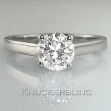 Solitaire Good Cut Not Enhanced Fine Diamond Rings