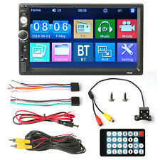"7"" Stereo Bluetooth Car MP5 Player Radio 1080P Touch Screen FM/AUX/USB/TF+Camera"