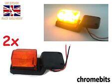 2x LED Rubber Amber Position Light Lamps 24V Side Marker Truck Trailer Lorry