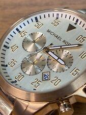New Michael Kors MK8491 Gage Chronograph Gold Tone Dial Men's Watch 45mm