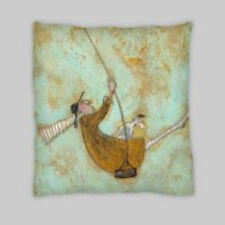 Sam Toft Estilo Contemporáneo Mezcla De Lino Doble Cara Cushion Covers 18X18