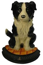 Vintage Fonte Bordure Collie Berger Butoir Coffre Grattoir