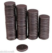 """Strong 1"""" Round Flat Ceramic Disc Magnets For Diy Crafts ~Bulk Lot of 250 Pcs"""
