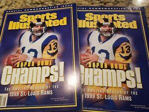 Commemorative Issue 1999 Kurt Warner St Louis Rams Super Bowl Sports Illustrated