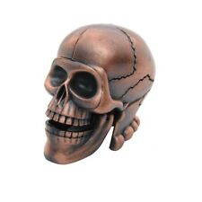 Metal Skeleton Skull Pencil Sharpener Novelty Collectible Halloween Desk Decor