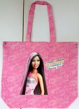 Pink Barbie Print Thin Cotton Shopping Bag With Sarcastic Barbie Picture