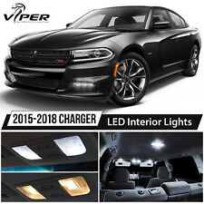 2015-2018 Dodge Charger White LED Interior Lights Kit Package