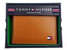 GENUINE TOMMY HILFIGER MEN'S PREMIUM LEATHER CREDIT CARD ID WALLET BILLFOLD TAN