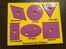 Wooden learning puzzle -vintage