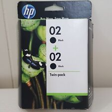 HP 02 Black Twin Pack Printer Ink Cartridges Expired October 2012 Sealed