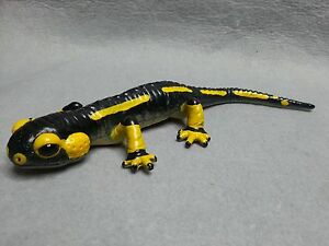 "RARE Retired Bullyland Animal Fire Salamander Huge PVC Figure 9"" Lizard Germany"