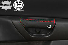 RED STITCHING 2X REAR DOOR HANDLE LEATHER COVERS FITS MAZDA 3 03-09 5 DOOR
