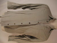 Ermenegildo Zegna Mens Beige Plaid Long Sleeve Cotton Shirt S Italy Made