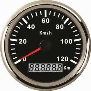 85mm GPS Speedometer Stainless Waterproof Gauge 120KM/H Speed for Car Truck 12V