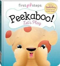 First Steps: Peekaboo! Let's Play (Puppy) by Hinkler Books (Novelty book, 2016)