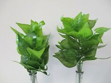 Pack of 2 Artificial Pothos Bush 34cm Tall Green Foliage - 7 stems per plant