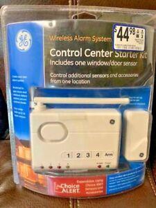 GE Wireless Alarm Security System Control Center Starter Kit 45142