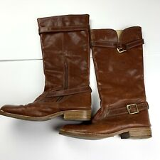 Coach Whitley Reddish Brown Vintage Riding Boots MSRP 8.4B