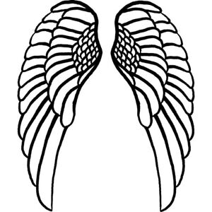 'Angel Wings' Unmounted Rubber Stamp (RS013830)