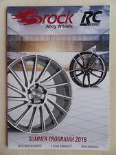 Brock Alloy Wheels Alufelgen Programm 2018 - B39 B33 B29 RC31 - Prospekt 2017