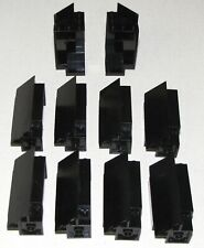 LEGO LOT OF 10 BLACK CASTLE WALLS CORNER PANELS PIECES