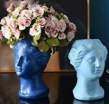 Nordic Resin Human Head Vase Flower Vase Sculpture Modern Home Decor Ornaments