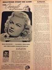 June Haver, Westmore Makeup, Vintage Print Ad