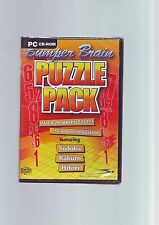 BUMPER BRAIN PUZZLE PACK - 28,000+ SUDOKU KAKURO & HITORI - PC GAME - NEW SEALED