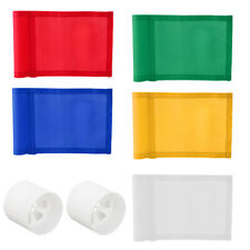 7x5'' Solid Golf Flag with Plastic Insert Putting Green Flags & 2 Hole Cups