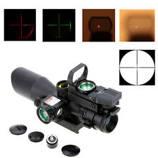 2.5-10X40 Rifle Scope w/Red Laser Holographic Green/Red Dot Sight Guns New Style