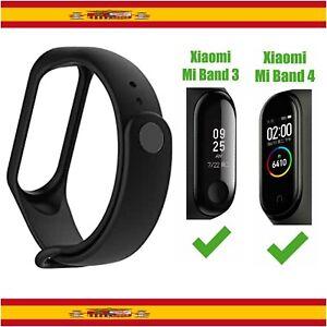Recambio para Pulsera Actividad Xiaomi Mi Band 4 3 Smartwatch Correa Reloj Negro