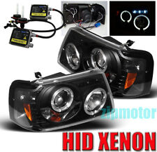 01-11 FORD RANGER HALO LED PROJECTOR HEADLIGHT+HID KIT BLACK 06 07 08 09 10 2IN1