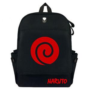Uzumaki Naruto Canvas Zipper Backpack Rucksack School Satchel Travel Hiking Bag