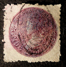 NEW SOUTH WALES #44 CAT.$50 HIGH VALUE 5 SHILLING