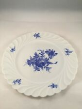 Salad Plate, Haviland China Limoges, Strasbourg Pattern, Blue Roses Flowers