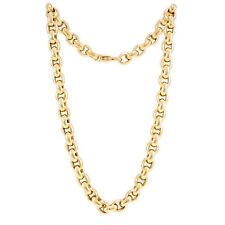 Collier Rundanker Halbmassiv Gelbgold 585 14K 46cm Set Damenschmuck Goldkette