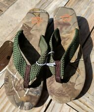 New Realtree AP Xtra womens Camo Camoflauge wedge Sandals flip flops size 10