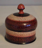 Spice Box Rosewood Painted Lacquered Spice Box