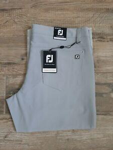 NEW FootJoy 5 Pocket Performance Golf Pants Light Grey 34 X 34