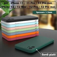 Cover Custodia per Apple iPhone 11 /12 Pro Max in TPU Opaco morbido Bordi piatti