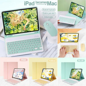 For iPad Mini 1 2 3 4 5 Bluetooth Keyboard Flip Stand Case Cover With Pen Holder