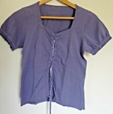 Unbranded MAUVE T-SHIRT with Lace trim