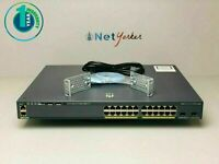 Cisco WS-C2960X-24PD-L • 24 Port PoE 2960X LAN BASE SWITCH ■ 1 YEAR WARRANTY ■