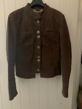 'Donna' Leather jacket In Brown. Size M/38